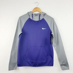 NWT Nike Therma All Time PO Hoody New Orchid Small Pullover Purple Gray